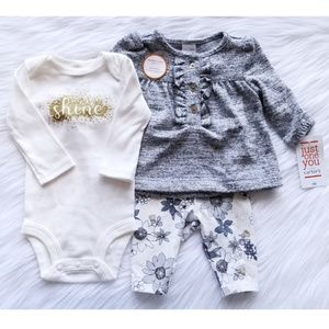 NWT Just One You Girl Outfit Set Size Newborn